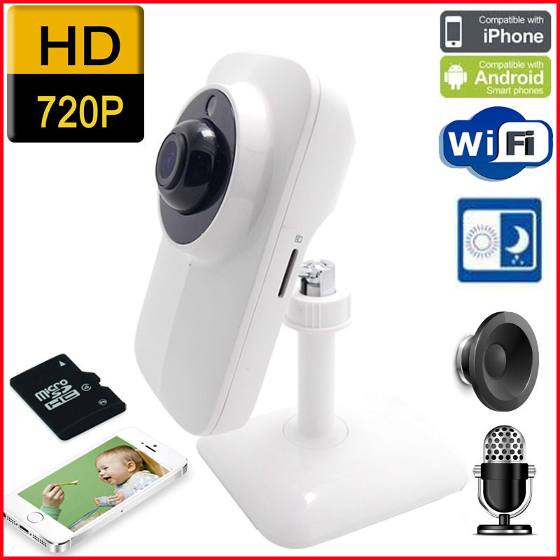 цена Baby Monitor TF Micro SD Card Supported Wireless Network Internet Wifi IP Camera Built-in Mic Indoor CCTV Security Camera