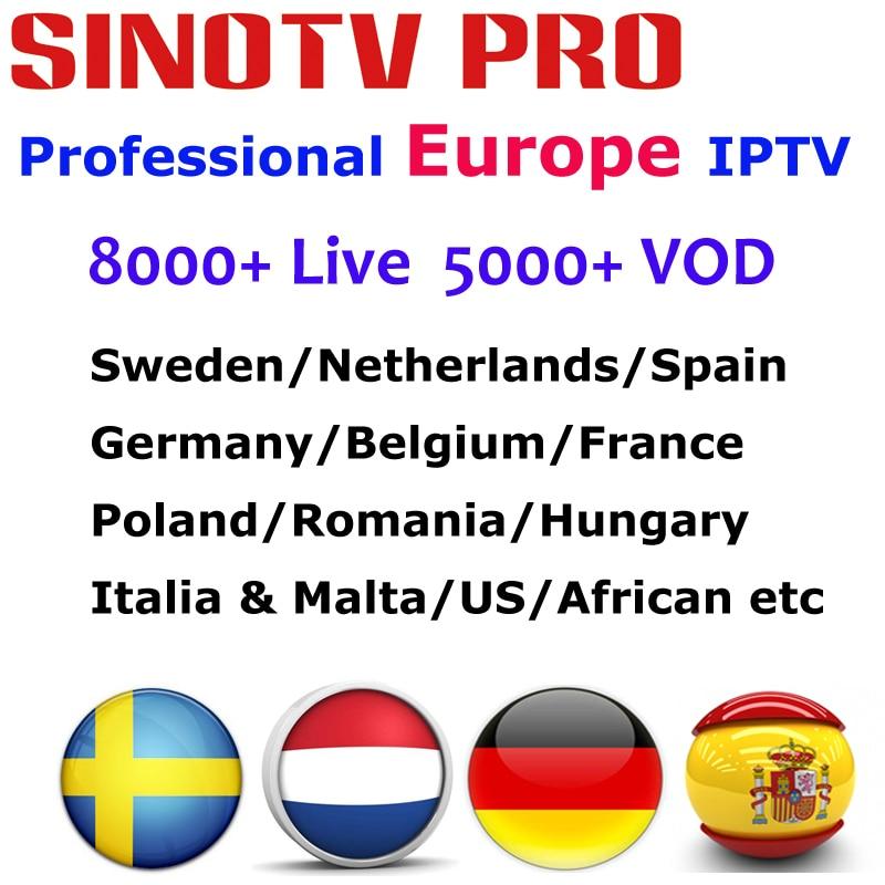 Europe IPTV Subscription France Romania German Arabic Dutch Sweden Italia Poland Portugal Smart TV IPTV M3U