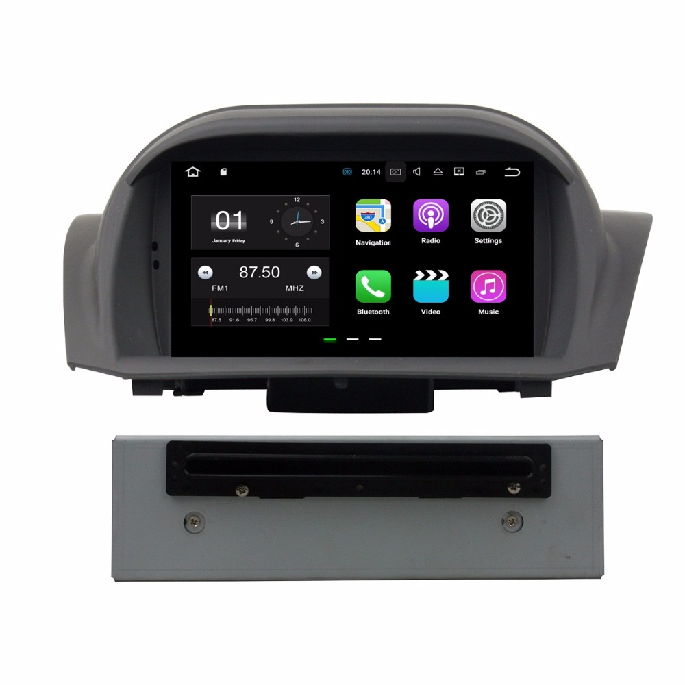 1024*600 Android 7.1 Car Radio DVD GPS Multimedia Head Unit for Ford Fiesta 2011 2016 With 2GB RAM Bluetooth 4G WIFI Mirror link