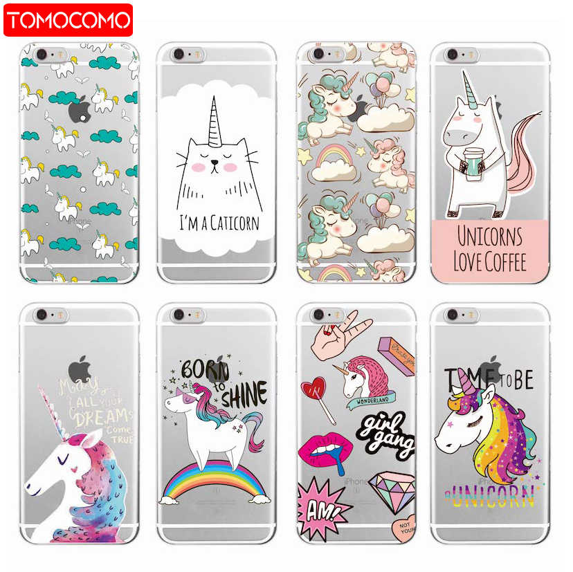 coque iphone 12 unicorn rainbow