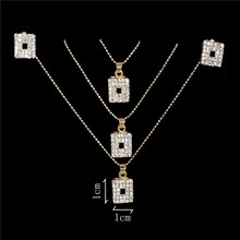 Austrian Crystal Golden Plated Jewerly Sets For Women Cat's Eye Stones Jewelry Set african necklace earrings jewellery set(China)