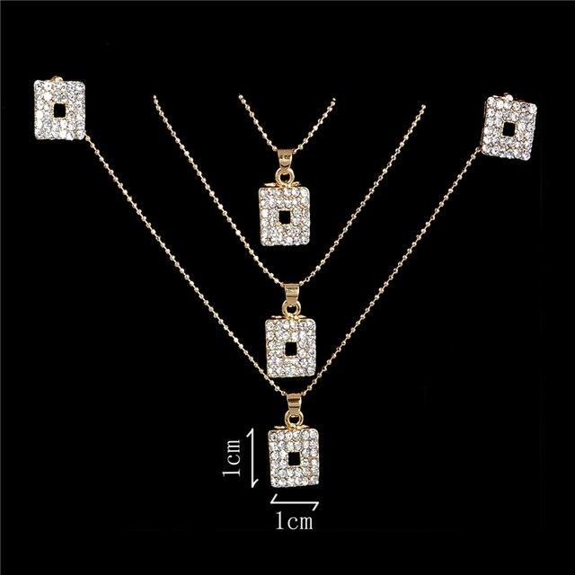 Österreichischen Kristall Goldene Überzogene Jewerly Sets Für Frauen Katzenauge Steine Schmuck-Set afrikanische halskette ohrringe schmuck set