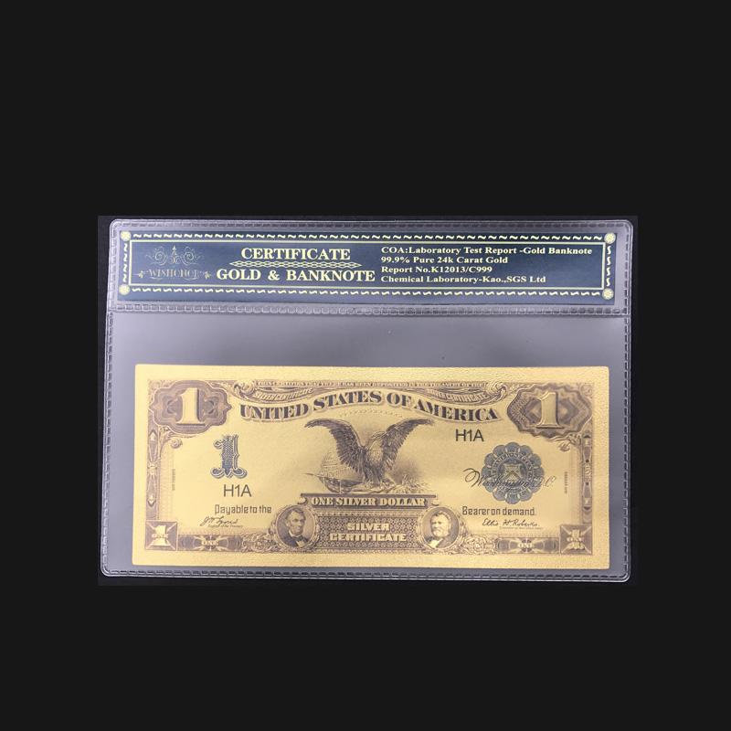Dollar 1899 Bill Real 99 9 Gold Foil