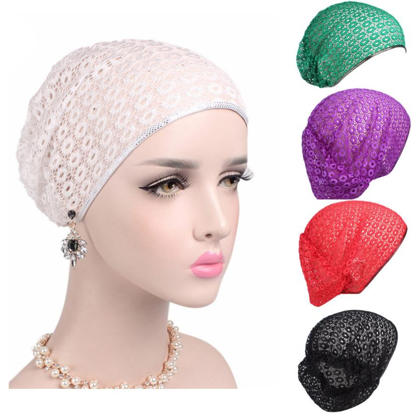 Women New Elastic Cap Turban Muslim lace chemotherapy turban Cancer Chemo Hat Beanie Scarf Turban Head Wrap Cap Take Photo pain management among colorectal cancer patient on chemotherapy
