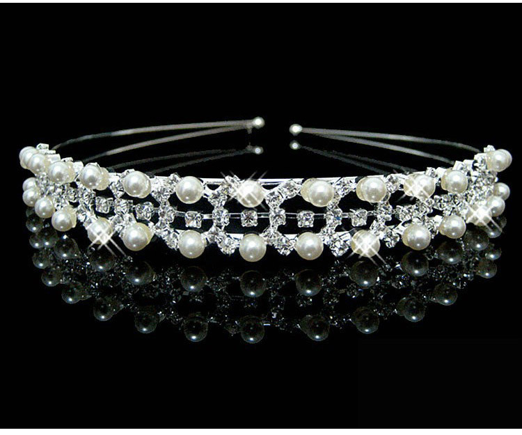 HTB1Bzj7PXXXXXb9XpXXq6xXFXXXH Brilliant Gem and Pearl Encrusted Wedding Bridal Bridesmaids Headband Tiara Crown - 11 Styles
