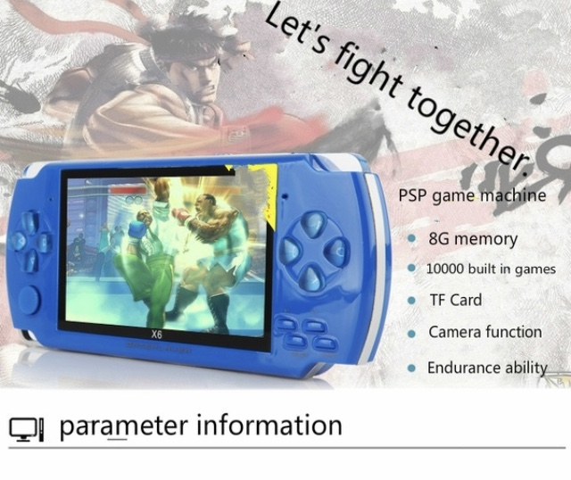 5.1inch Screen Handheld Game Consoles 8GB Memory Built In 500 Games With Camera