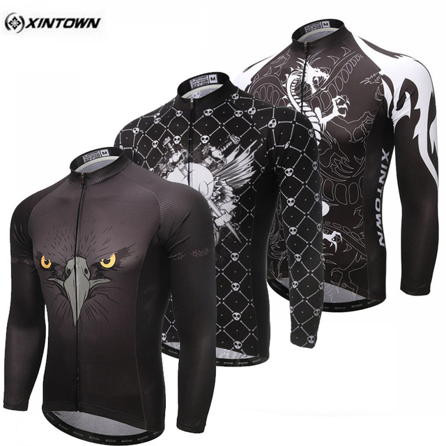 c6c298a80 XINTOWN 2017 Team Polyester Sport Wear Ropa Ciclismo Outdoor Long Sleeve  Bike Bicycle Shirts Tops Men s