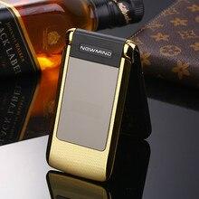 Разблокирована флип Newmind V518 двойной экран Dual Sim Вибрация старший мобильный телефон Большие буквы телефон для пожилых людей GPRS