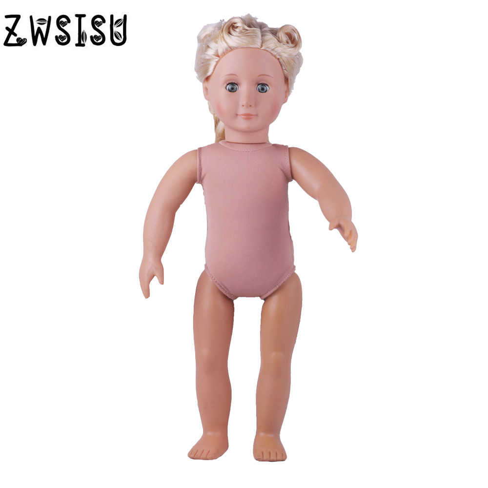 18 inch American girl doll series DIY toy children / birthday gift 45CM long hair naked princess doll, randomly send, pursue 18 inch hot naked american girl