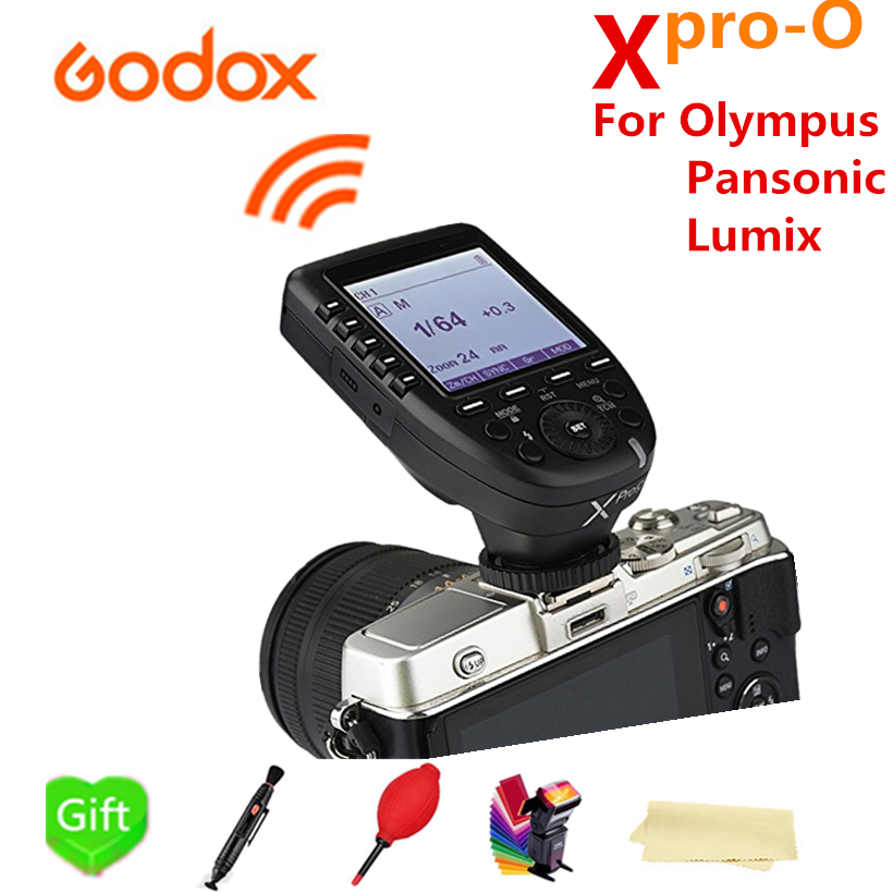 Godox Xpro-O TTL 2.4G X system HSS LCD Screen Wireless Flash Transmitter For Olympus Pansonic Lumix Godox V860II-O TT685-O TT600 вспышка godox thinklite tt600