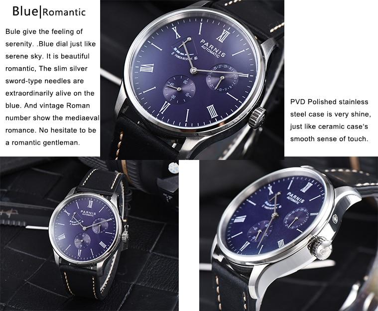 HTB1BzjfMgHqK1RjSZFPq6AwapXaM 2019 Luxury Man Parnis Power Reserve Automatic Watch Mechanical Self Winding Men Watches mekanik kol saati relogio automatico