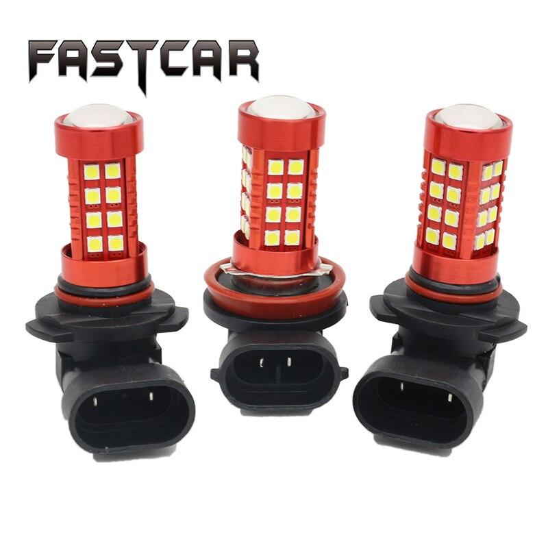 2pcs High Power 50W 12V H8 H11 9005 9006 Fog Lamps 36 SMD 3030 LED 550MA Spot Lens Car Light Source Wedge Fog Lights