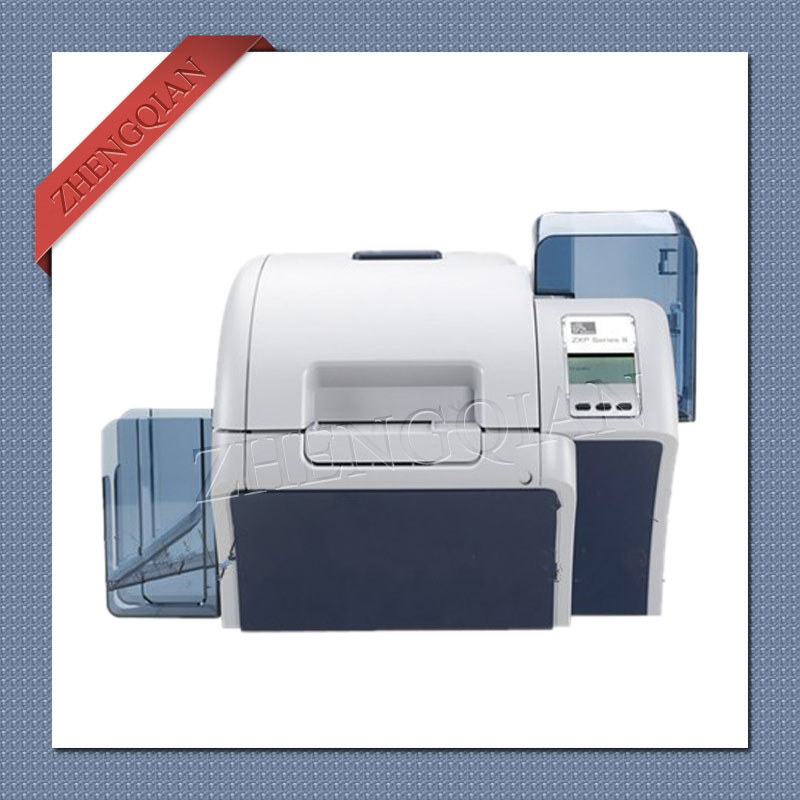 High security Zebra ZXP8 single sided High quality Zebra retransfer printer with two 800012 445 and