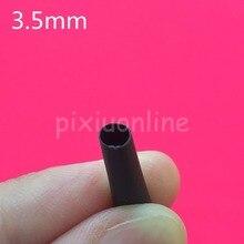 1meter/lot L53Y 2:1 Black 3.5mm Diameter Heat Shrink Heatshrink Tubing Tube Sleeving Wrap Wire