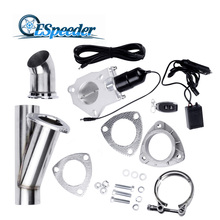 ФОТО 3 size Stainless Steel Headers Y pipe Electric Exhaust CutOut Kit with Remote control