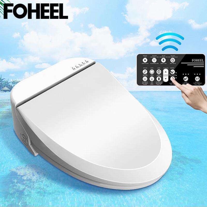 FOHEEL smart toilet seat cover led light remote smart toilet seat heating bidet toilet seat bathroom