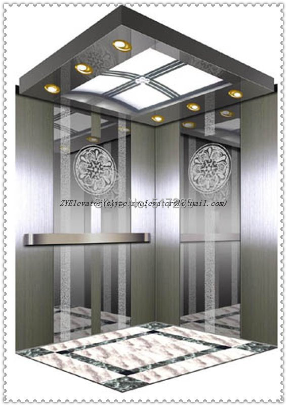 Elevator Parts Passenger Elevator Car Cabinet Etch Mirror Cabinet
