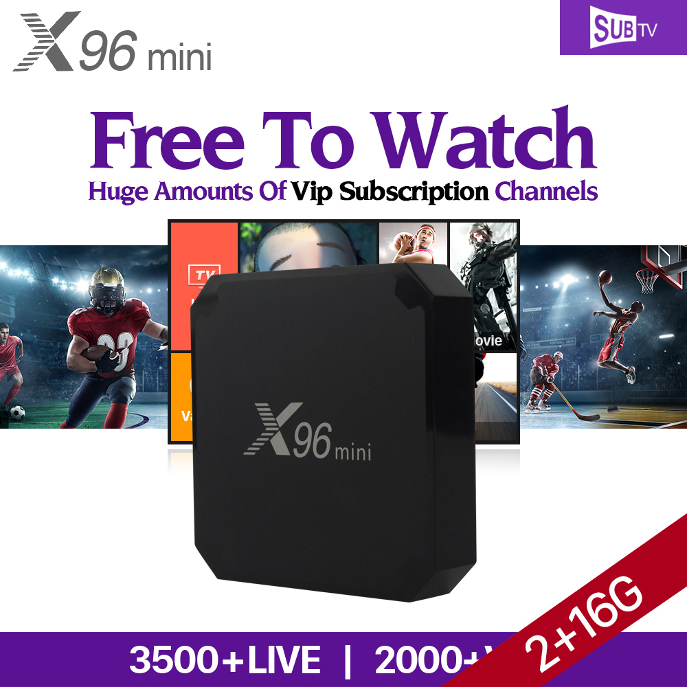 X96 mini 2GB 16GB Android 7.1 Smart TV Box Amlogic S905W Quad Core 4K H.265 Set Top Box SUBTV Europe Swedish Brazil IPTV Top Box x96 mini smart tv box android 7 1 1gb 8gb 2gb 16gb amlogic s905w quad core h 265 4k 2 4ghz wifi x96mini pk mx9 pro set top box
