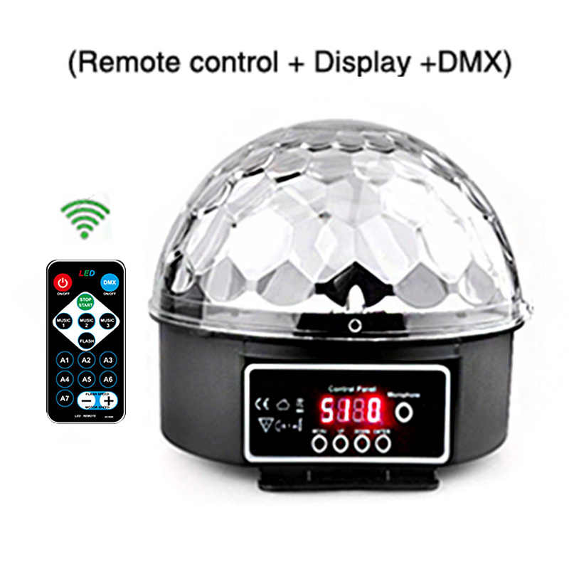 9 لون مصباح LED قرصي ماجيك مصباح كروي ليد لحمامات السباحة DMX 512 ليزر Lumiere RGB كشاف إضاءة للحفلات للأطفال DJ الصوت المنشط ديسكو مصباح كشاف إضاءة للحفلات