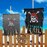 Halloween Prop Ghost Pirate Hanging Flag Haunted House Banner For Home Office Party And Festival Decoration