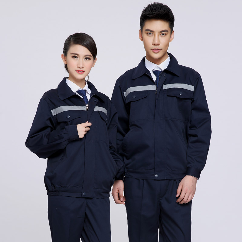 Spring and autumn long-sleeve work wear set reflective of male workwear protective clothing work wear