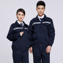Spring and autumn long-sleeve work put on set reflective of male workwear protecting clothes work put on
