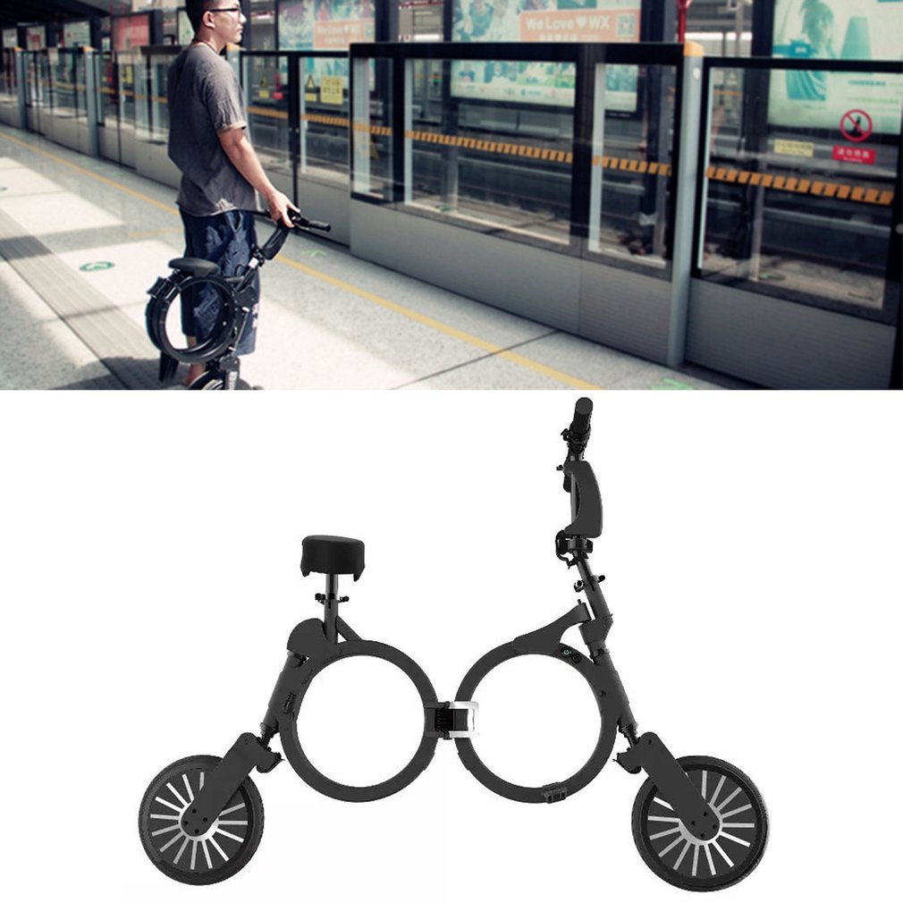 все цены на Folding Vehicle Super Lightweight Mini Portable Two Wheeled Adult Lithium Battery Electric Scooter Bicycle Scooter High Quality