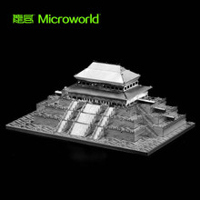 MICROWORLD Royal Building Taihe Temple 3D Metal Puzzle DIY Model Set For Adults Children Educational Collection Toys цены онлайн