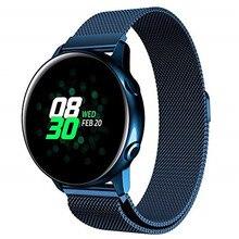 20 мм 22 мм Миланская петля магнитный браслет для samsung Galaxy Watch Active 40 мм/Galaxy Watch 42 мм 46 мм/gear S3/S2 ремешок