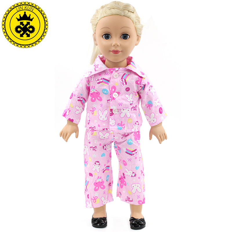 American Girl Dolls Pajamas Doll accessories Princess Doll Clothes Fit 18 inches Clothes Baby Birthday Christmas Gift MG-023 lifelike american 18 inches girl doll prices toy for children vinyl princess doll toys girl newest design