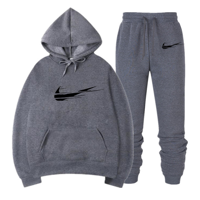 d97bc425e New 2019 Brand Tracksuit Fashion Hoodies Men Sportswear Two Piece Sets All  Cotton Fleece Thick hoodie+Pants Sporting Suit Male