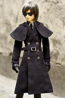 [wamami]500# Black Coat/Dust/Clothes 1/4 MSD AOD DOD DZ LUTS BJD Boy Dollfie [wamami] 47 flaxen short wig for 1 4 msd aod dod dz bjd doll dollfie 8 9 inch