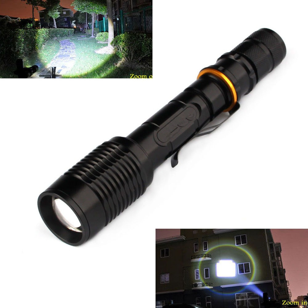 Waterproof Camp XM-L T6 2000 Lumen Torch Tactical Zoom LED Flashlight Torch Light For 2x18650 Battery lanternas lamp