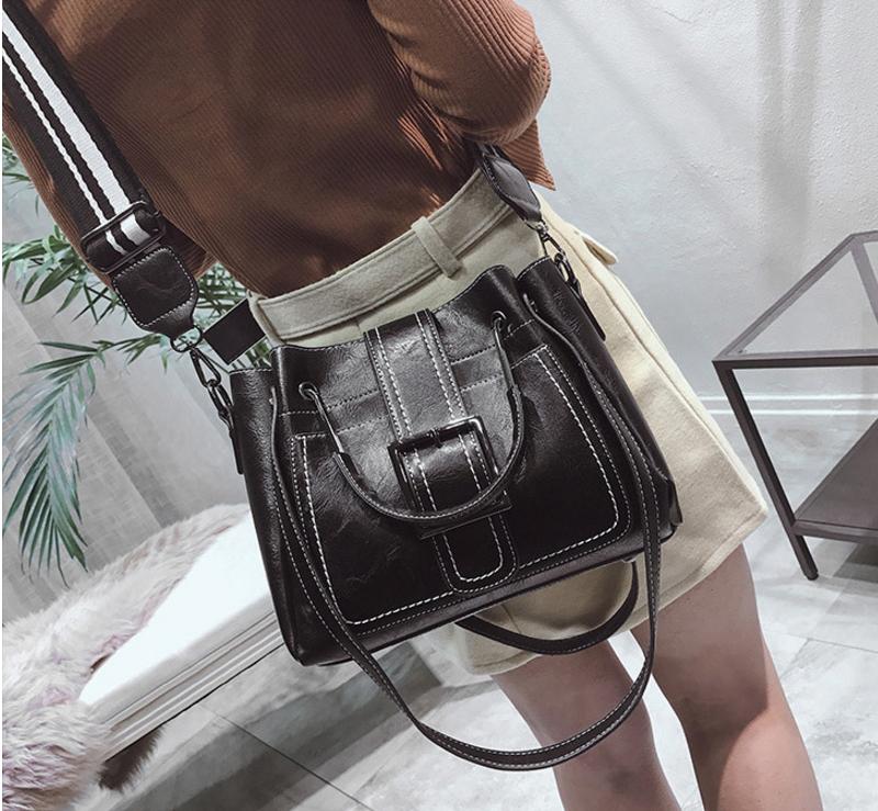 New European and American style vintage PU women handbag shoulder bag messenger bag 86