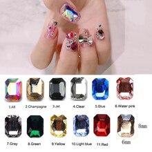 20 шт./лот стекло дизайн ногтей Стразы слеза/восьмиугольная 21 стиль Красочные камни для дизайна ногтей подвеска с прозрачными стразами 3D украшения для ногтей