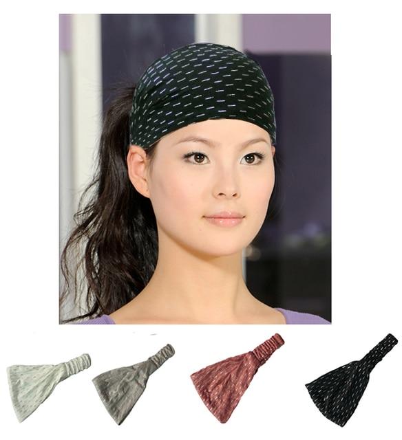 Glitter Cotton Headbands Bandana Turban Head Wrap Elastic For Women Girl  Hair Bands Hair Accessories Bandage e5232dd8217