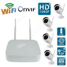 Envío libre! WIFI Wireless 1MP Cámara IP Bullet Disco 1080 P ONVIF NVR Vigilancia del Hogar del Kit