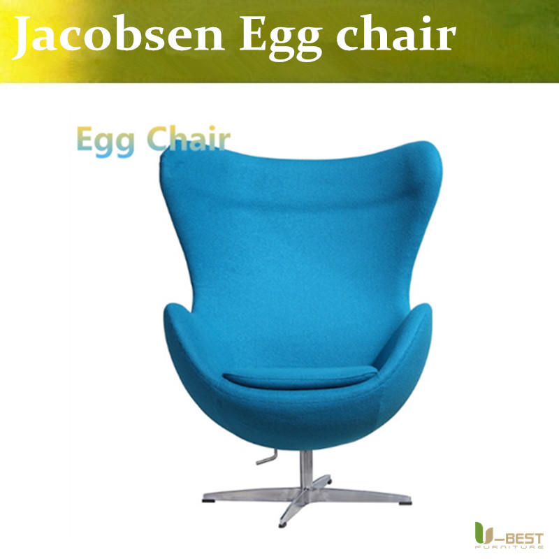 u best leisure arne jacobsen egg chair in red wool aluminum egg pod chair for the lobby and reception areas of the royal hotel U-BEST high quality Purple egg chair wool egg chair modern design furniture