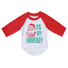 Infant Kids Baby Boys Girls Clothing Tops Christmas Long Sleeve T-shirt Cotton Cute Tops Casual Clothes Boy