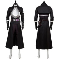 Sword Art Online Fatal Bullet kirito Kirigaya Kazuto Cosplay Costume Black Uniform Dress Halloween Carnival Costumes