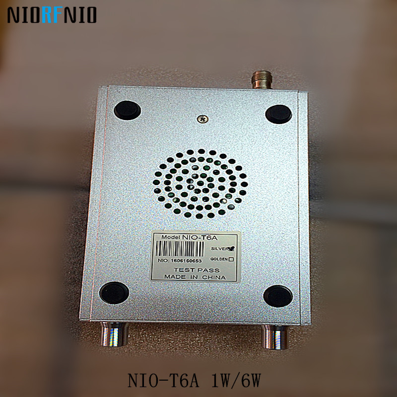 Free Shipping NIO-T6A 1W/6W Radio FM Broadcast Equipment 76MHz to 108MHz Adjustable free shipping nio t6t 6w professional pll transmissor fm tf card maximum supported 128g