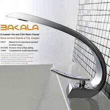 BAKALA Смеситель для умывальника в ванной комнате, современный дизайн. Вентили для горячей и холодной воды. Кран для ванни и умывальника F6101-1