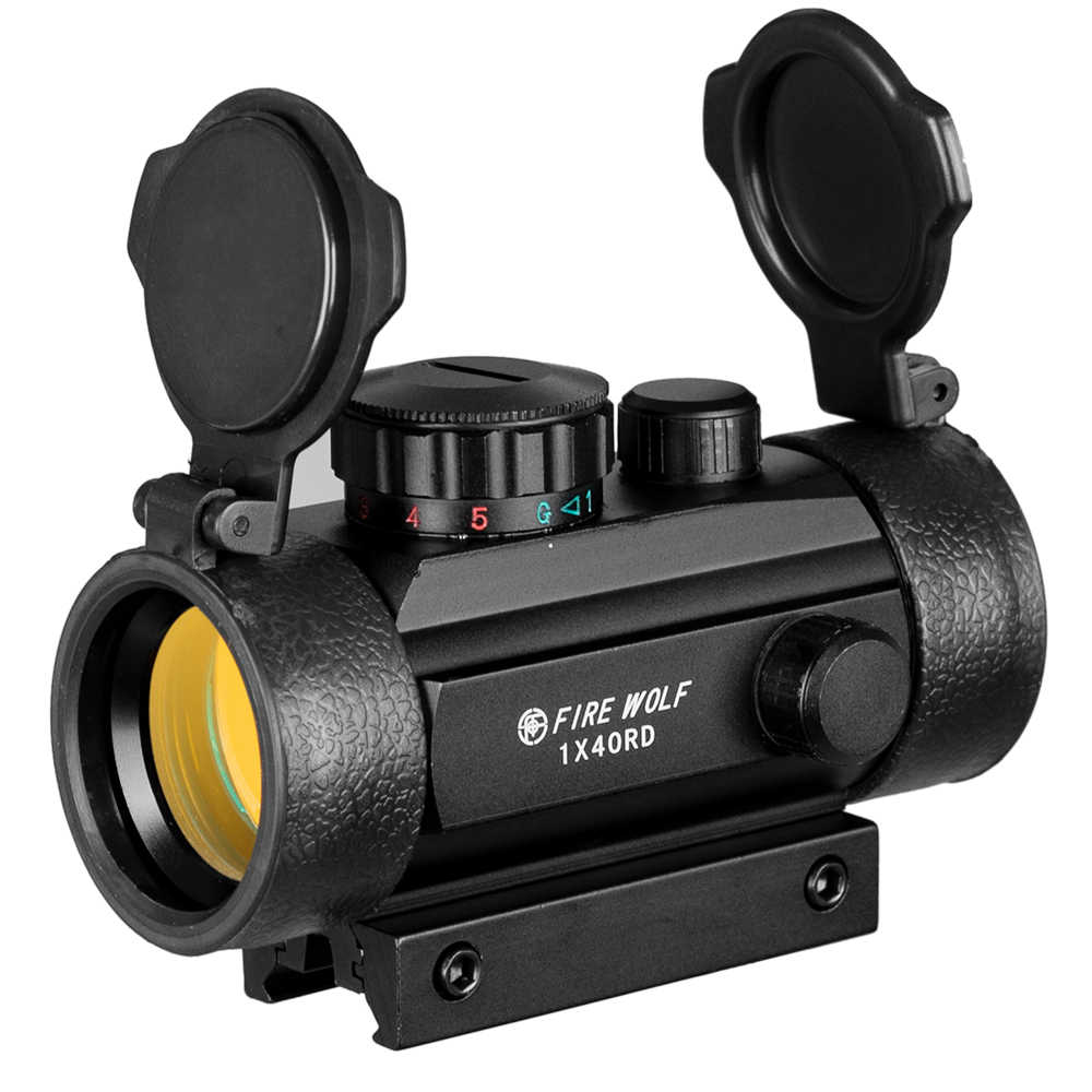 1X40 Berburu Taktis Hologram Riflescopes Merah Hijau Titik Pemandangan Optik Lingkup Disesuaikan Senapan Lingkup Senapan