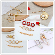 2019 Best Selling Explosion Hipster Acrylic Hair Clip And Crystal Cotton Delicate Hairpins For Women Clothing Accessories Gifts