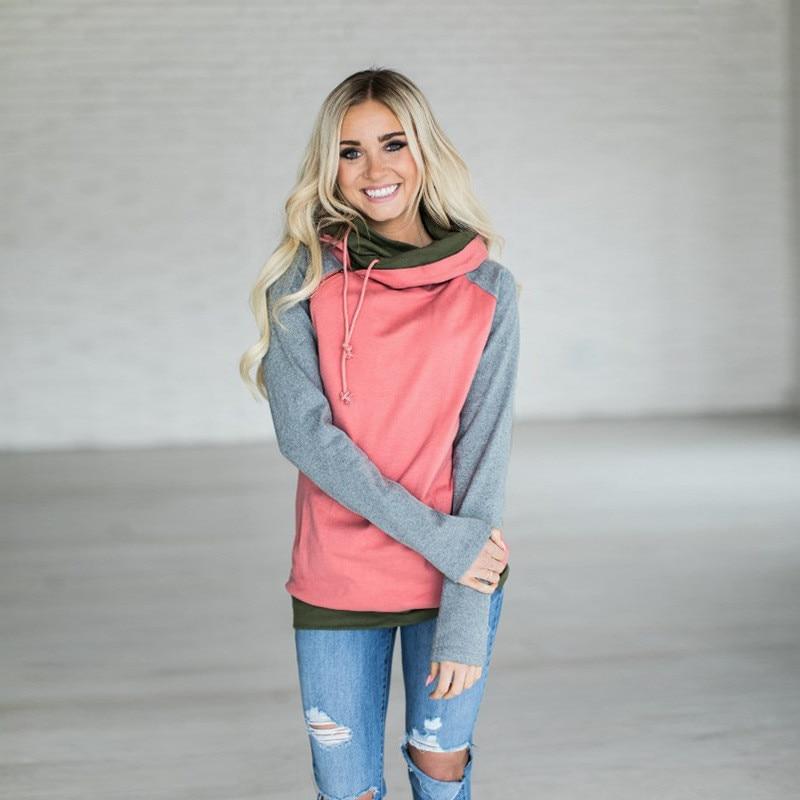 elsvios 2017 double hood hoodies sweatshirt women autumn long sleeve side zipper hooded casual patchwork hoodies pullover femme ELSVIOS 2017  hoodies, Autumn Long Sleeve HTB1BznGrS3PL1JjSZFxq6ABBVXaz