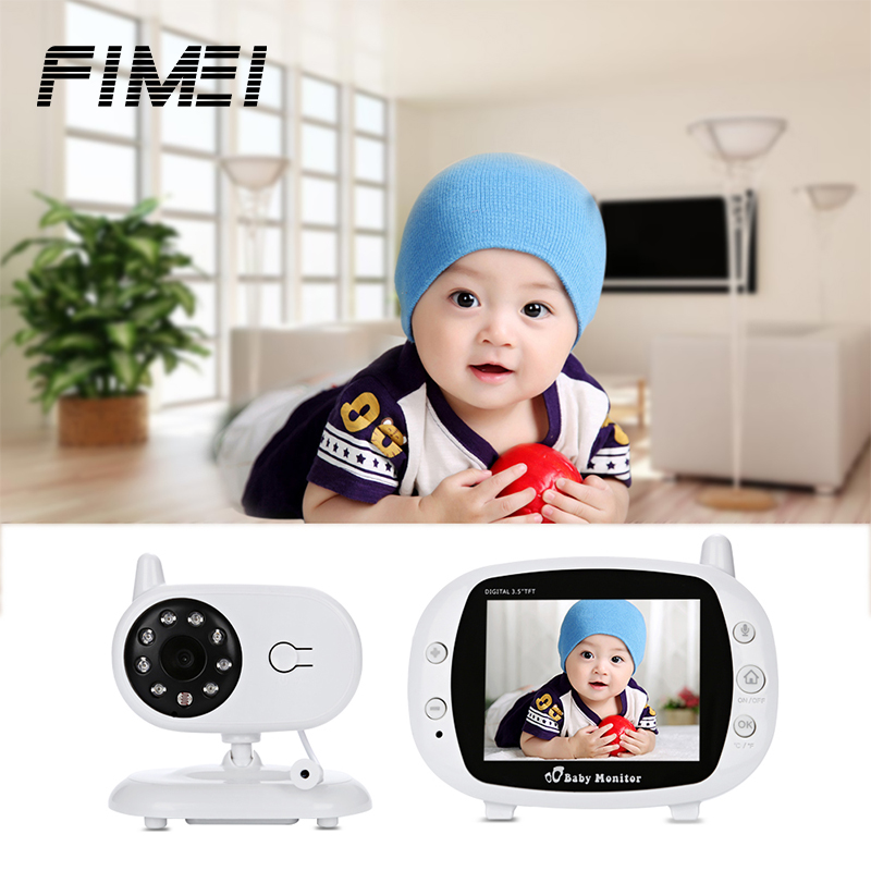 цена FIMEI 3.5 inch Wireless Baby Monitor Camera WiFi TFT Video Baby Lullaby Sleep Monitor IR Night Vision Security Baby Camera
