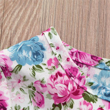 Floral Print Ruffles Half Sleeve Dresses Outfits