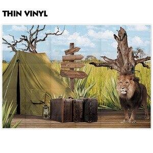 Image 3 - Allenjoy fotoğraf backdrop jungle safari aslan afrika macera arka plan photocall parti dekor fotoğraf stüdyosu fotoğraf standında