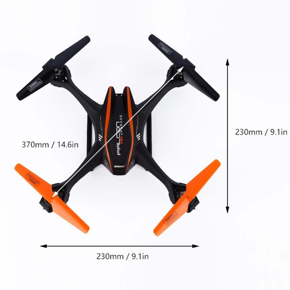Black 6-Axis 4CH Gyro 2.4Ghz Falcon RC Quadcopter with HD Camera for UDI U842