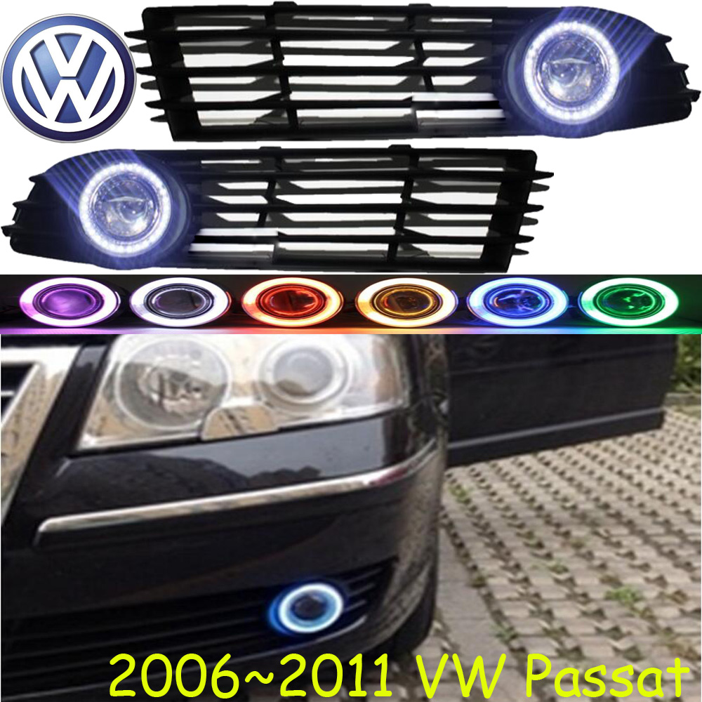 Car-styling,Passat fog lamp,2006~2011,chrome,Free ship!2pcs,Passat head light,car-covers,Halogen/HID+Ballast;Passat passat b3 светодиодные фары купить